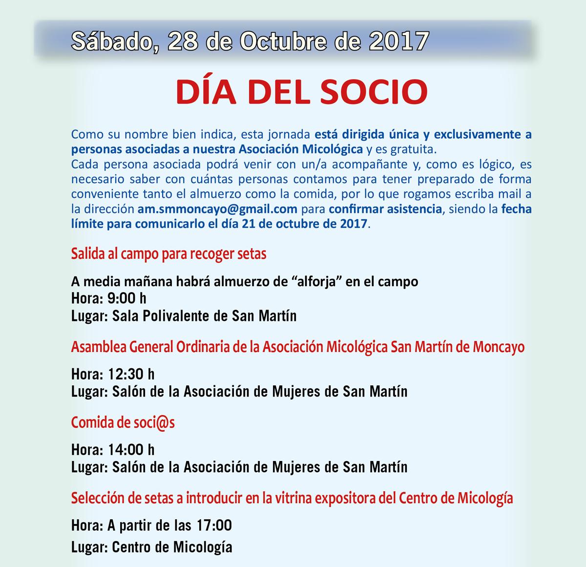 XIV Jornadas Micológicas Otoño 2017 #MicoMoncayo - San Martín de la Virgen de Moncayo - Actividades 28 de octubre de 2017