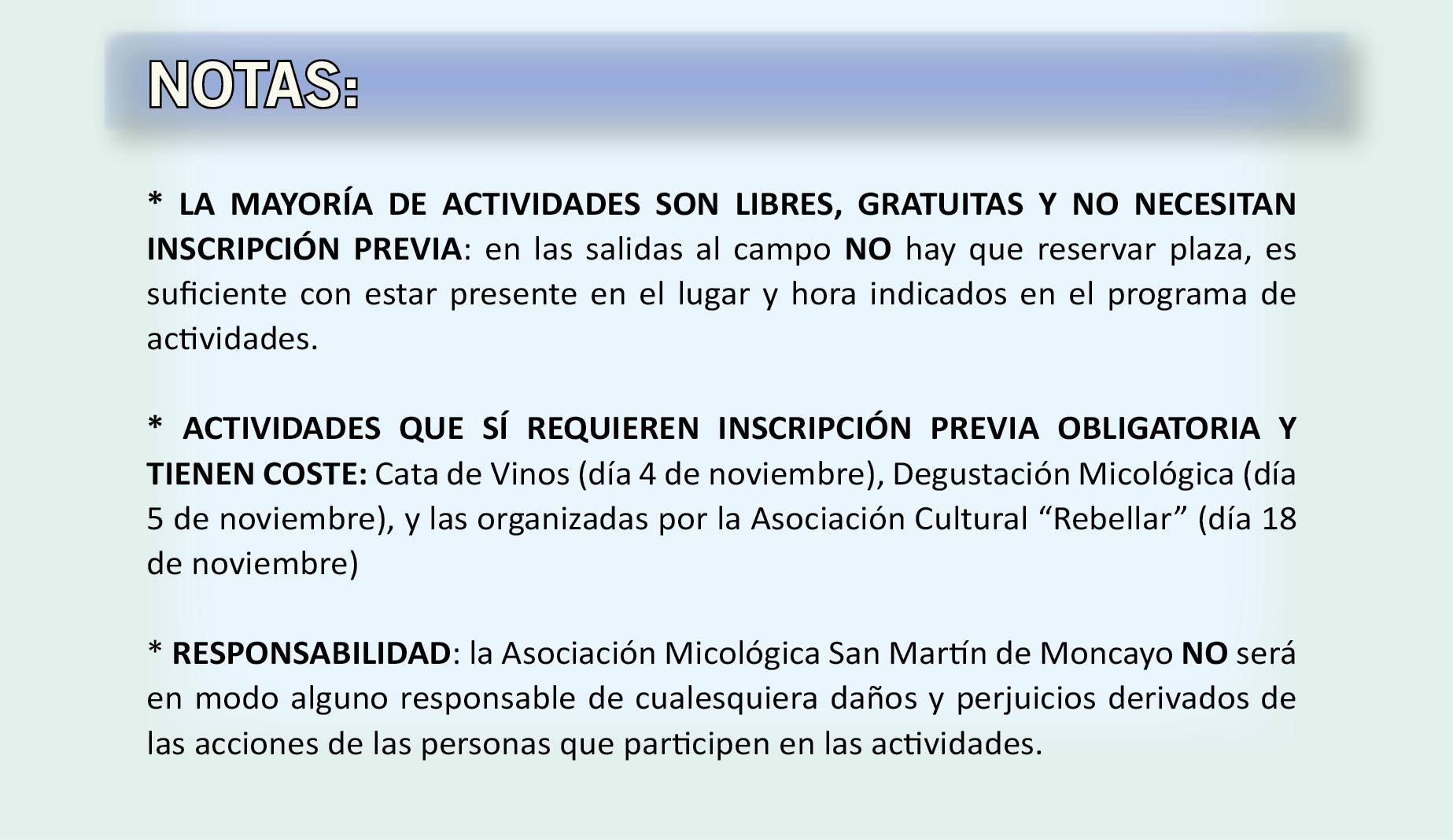 XIV Jornadas Micológicas Otoño 2017 #MicoMoncayo - San Martín de la Virgen de Moncayo - Notas