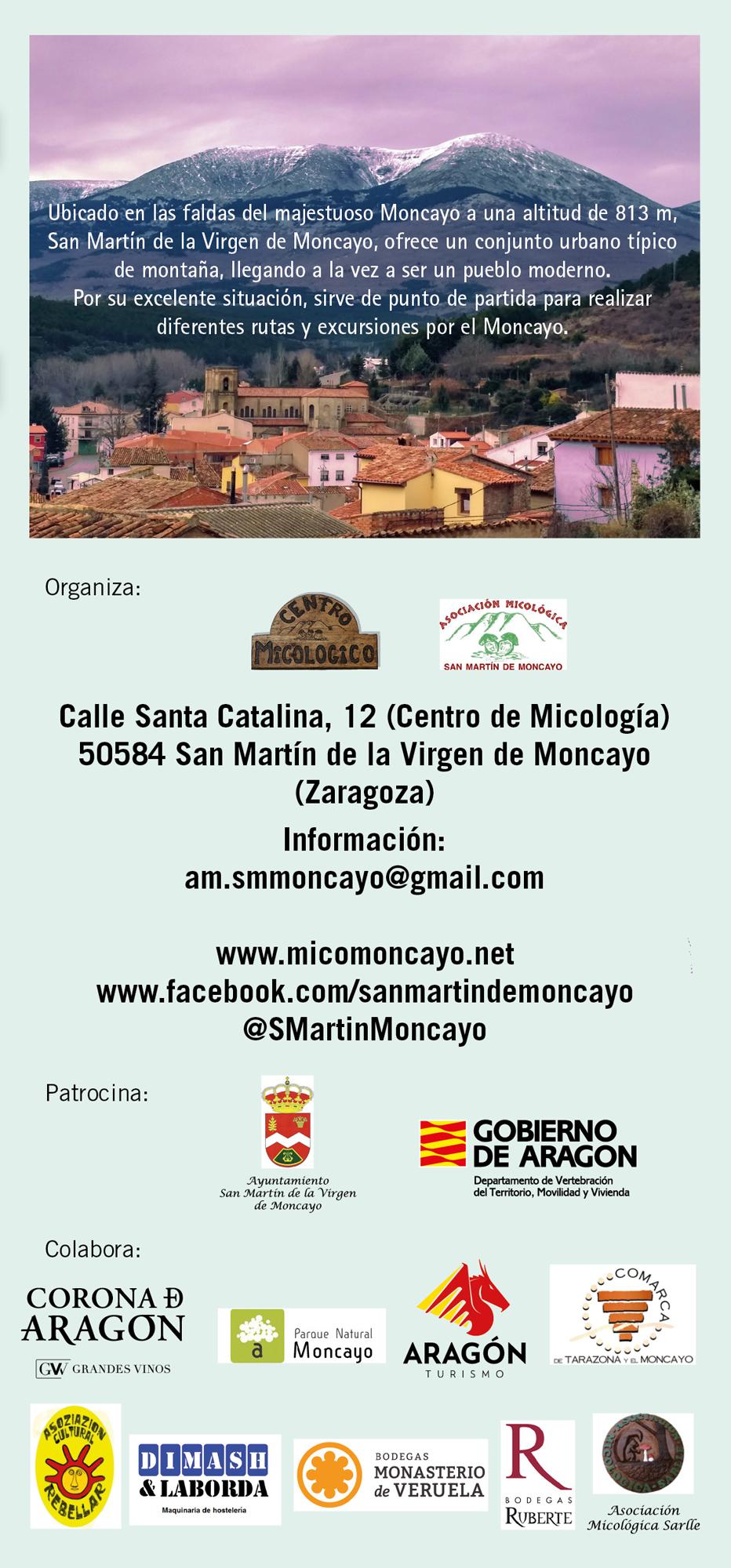 XIV Jornadas Micológicas Otoño 2017 #MicoMoncayo - San Martín de la Virgen de Moncayo - Contacto y colaboraciones