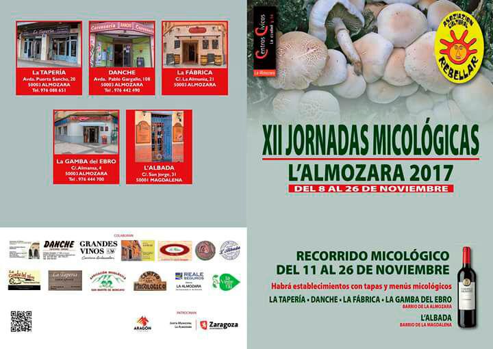Ruta Gastronómica XII Jornadas Micológicas Otoño 2017 L'Almozara