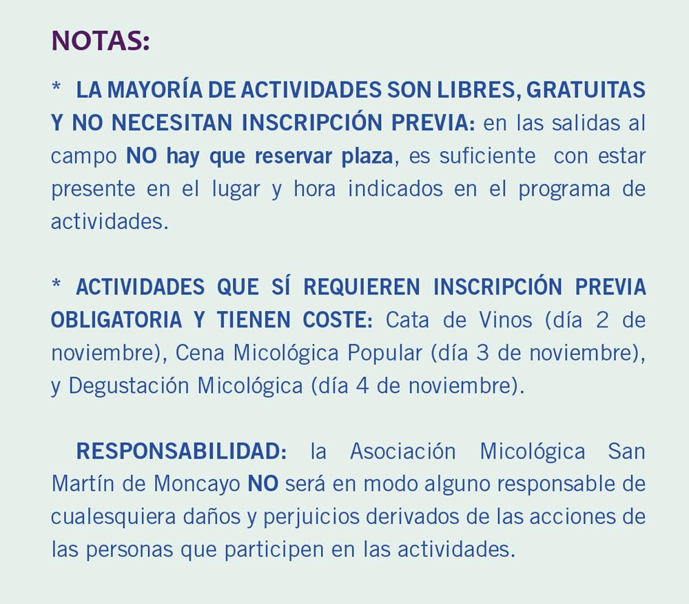 Notas XV Jornadas Micológicas Otoño 2018 #MicoMoncayo