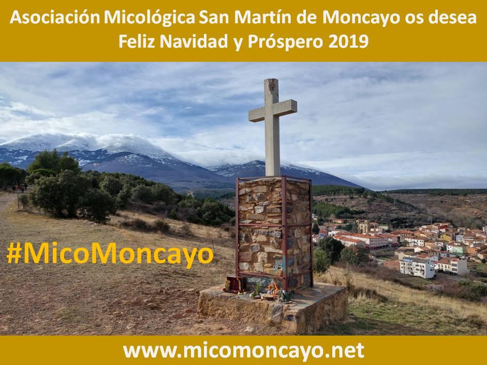 Asociación Micológica San Martín de #Moncayo #MicoMoncayo, os desea Feliz Navidad y Próspero 2019