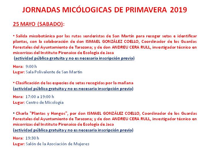 #MicoMoncayo Primavera 2019 - Actividades día 25 de mayo