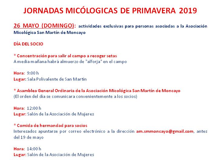 #MicoMoncayo Primavera 2019 - Actividades día 26 de mayo