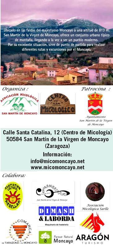 Contraportada Programa Actividades XVI Jornadas Micológicas Otoño 2019 #MicoMoncayo
